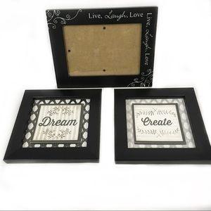 Black Frames Inspiring Home Decor 3 Piece Set